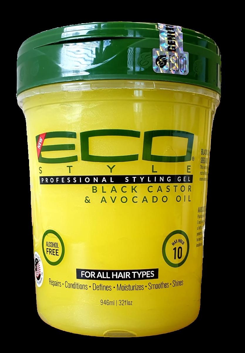 Eco Styler Gel Black Castor Avocado Oil